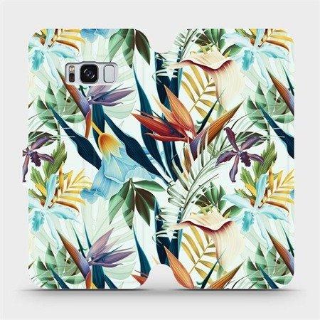 Flipové pouzdro Mobiwear na mobil Samsung Galaxy S8 - M071P Flóra