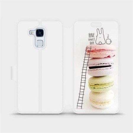 Flipové pouzdro Mobiwear na mobil Honor 7 Lite - M090P Makronky - have a nice day