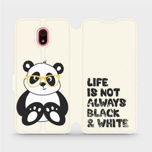 Flipové pouzdro Mobiwear na mobil Xiaomi Redmi 8a - M041S Panda - life is not always black and white