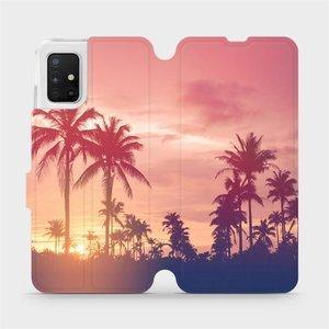 Flipové pouzdro Mobiwear na mobil Samsung Galaxy A51 - M134P Palmy a růžová obloha
