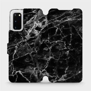 Flipové pouzdro Mobiwear na mobil Samsung Galaxy S20 - V056P Černý mramor