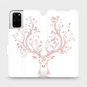 Flipové pouzdro Mobiwear na mobil Samsung Galaxy S20 Plus - M007S Růžový jelínek
