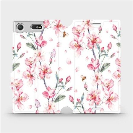 Flipové pouzdro Mobiwear na mobil Sony Xperia XZ1 Compact - M124S Růžové květy