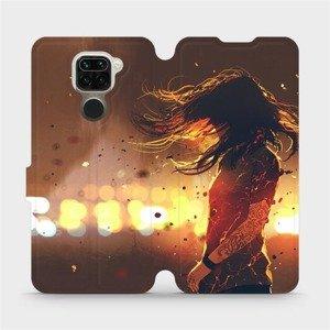 Flipové pouzdro Mobiwear na mobil Xiaomi Redmi Note 9 - MA02S Tetovaná dívka