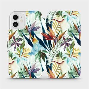 Flipové pouzdro Mobiwear na mobil Apple iPhone 12 - M071P Flóra