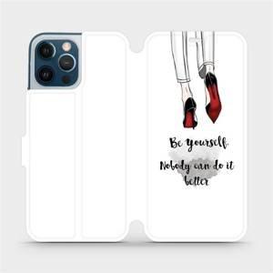 Flipové pouzdro Mobiwear na mobil Apple iPhone 12 Pro Max - M046P Be yourself