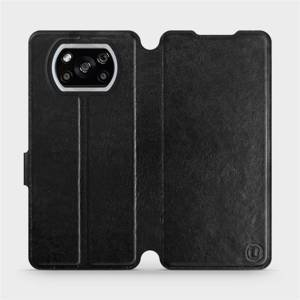 Flipové pouzdro Mobiwear na mobil Xiaomi POCO X3 NFC v provedení C_BLS Black&Gray s šedým vnitřkem