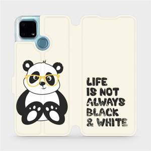 Flip pouzdro Mobiwear na mobil Realme 7i - M041S Panda - life is not always black and white