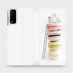 Flipové pouzdro Mobiwear na mobil Vivo Y11S - M090P Makronky - have a nice day