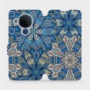Flipové pouzdro Mobiwear na mobil Nokia 5.4 - V108P Modré mandala květy