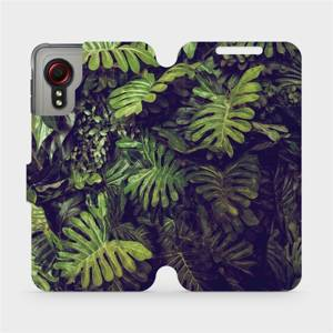Flipové pouzdro Mobiwear na mobil Samsung Galaxy Xcover 5 - V136P Zelená stěna z listů