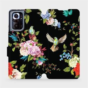 Flipové pouzdro Mobiwear na mobil Xiaomi Redmi Note 10 Pro - VD09S Ptáčci a květy - výprodej