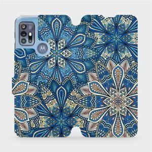 Flipové pouzdro Mobiwear na mobil Motorola Moto G20 - V108P Modré mandala květy