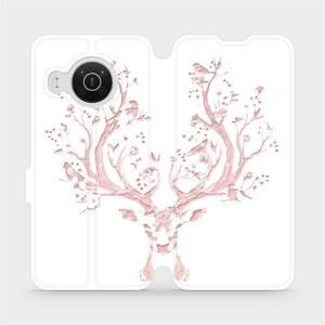 Flip pouzdro Mobiwear na mobil Nokia X20 - M007S Růžový jelínek