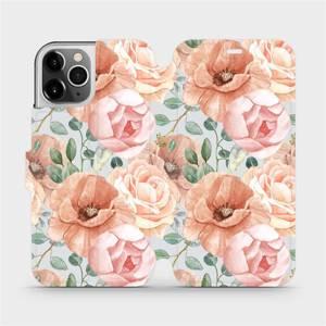 Flip pouzdro Mobiwear na mobil Apple iPhone 12 Pro - MP02S Pastelové květy