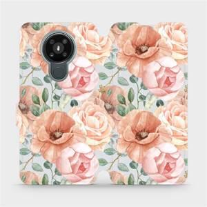 Flip pouzdro Mobiwear na mobil Nokia 3.4 - MP02S Pastelové květy
