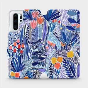 Flip pouzdro Mobiwear na mobil Huawei P30 Pro - MP03P Modrá květena