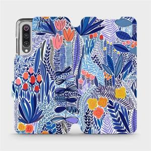 Flip pouzdro Mobiwear na mobil Xiaomi Mi 9 - MP03P Modrá květena