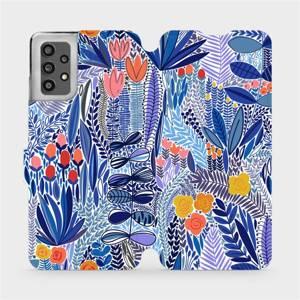 Flip pouzdro Mobiwear na mobil Samsung Galaxy A32 LTE - MP03P Modrá květena