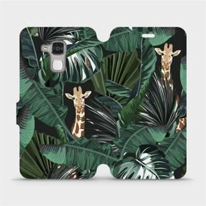 Flip pouzdro Mobiwear na mobil Honor 7 Lite - VP06P Žirafky