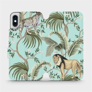 Flip pouzdro Mobiwear na mobil Apple iPhone XS - MP08S Dvě kočičky