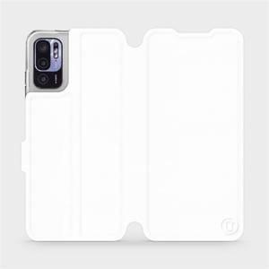 Flip pouzdro Mobiwear na mobil Xiaomi Redmi Note 10 5G v provedení C_WHS White&Gray s šedým vnitřkem