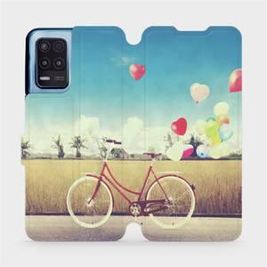 Flip pouzdro Mobiwear na mobil Realme 8 5G - M133P Kolo a balónky