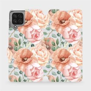 Flip pouzdro Mobiwear na mobil Samsung Galaxy A22 4G - MP02S Pastelové květy