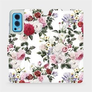 Flip pouzdro Mobiwear na mobil OnePlus Nord 2 5G - MD01S Růže na bílé