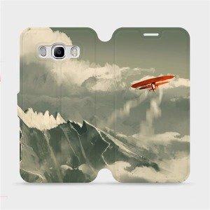 Flipové pouzdro Mobiwear na mobil Samsung Galaxy J5 2016 - MA03P Oranžové letadlo v horách