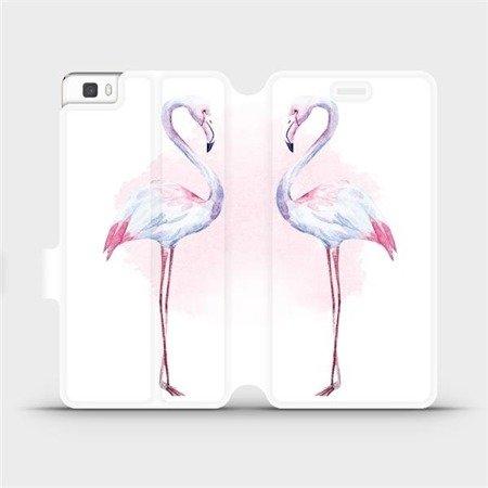 Flipové pouzdro Mobiwear na mobil Huawei P8 Lite - M005S Plameňáci