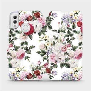 Flipové pouzdro Mobiwear na mobil Honor 10 Lite - MD01S Růže na bílé