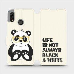 Flipové pouzdro Mobiwear na mobil Huawei P Smart 2019 - M041S Panda - life is not always black and white