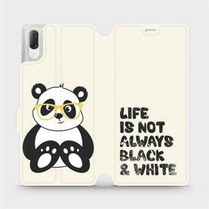 Flipové pouzdro Mobiwear na mobil Sony Xperia L3 - M041S Panda - life is not always black and white