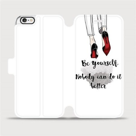 Flipové pouzdro Mobiwear na mobil Apple iPhone 6 / iPhone 6s - M046P Be yourself
