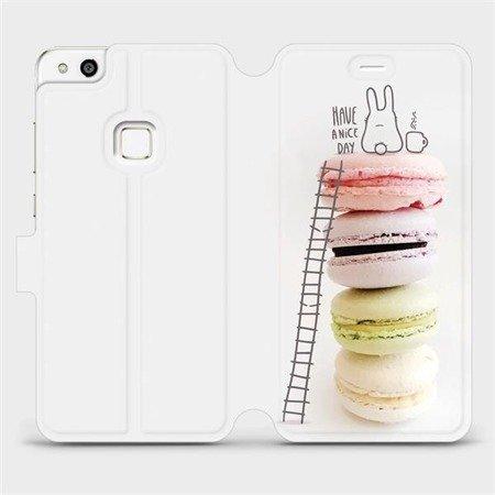 Flipové pouzdro Mobiwear na mobil Huawei P10 Lite - M090P Makronky - have a nice day
