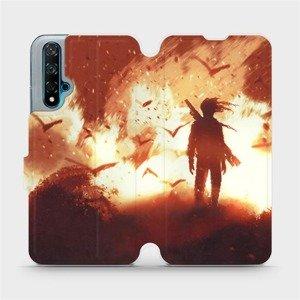 Flipové pouzdro Mobiwear na mobil Huawei Nova 5T - MA06S Postava v ohni