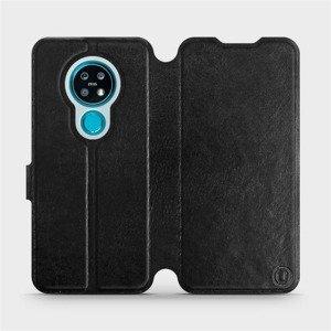 Flipové pouzdro Mobiwear na mobil Nokia 7.2 v provedení C_BLS Black&Gray s šedým vnitřkem