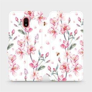 Flipové pouzdro Mobiwear na mobil Xiaomi Redmi 8a - M124S Růžové květy