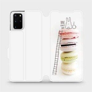 Flipové pouzdro Mobiwear na mobil Samsung Galaxy S20 Plus - M090P Makronky - have a nice day