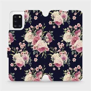 Flipové pouzdro Mobiwear na mobil Samsung Galaxy A31 - V068P Růžičky
