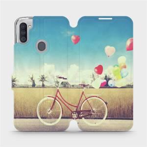 Flipové pouzdro Mobiwear na mobil Samsung Galaxy M11 - M133P Kolo a balónky