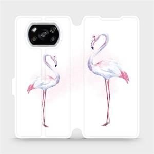 Flipové pouzdro Mobiwear na mobil Xiaomi POCO X3 NFC - M005S Plameňáci