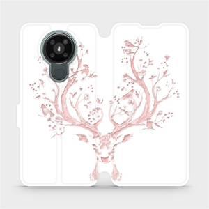 Flipové pouzdro Mobiwear na mobil Nokia 3.4 - M007S Růžový jelínek
