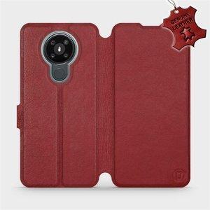 Flipové pouzdro Mobiwear na mobil Nokia 3.4 - Tmavě červené - kožené -  L_DRS Dark Red Leather - výprodej