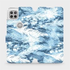 Flipové pouzdro Mobiwear na mobil Motorola Moto G 5G - M058S Světle modrá horizontální pírka