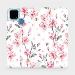 Flip pouzdro Mobiwear na mobil Realme 7i - M124S Růžové květy
