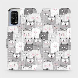 Flipové pouzdro Mobiwear na mobil Realme 7 5G - M099P Kočičky