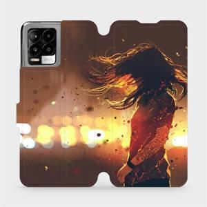 Flip pouzdro Mobiwear na mobil Realme 8 - MA02S Tetovaná dívka