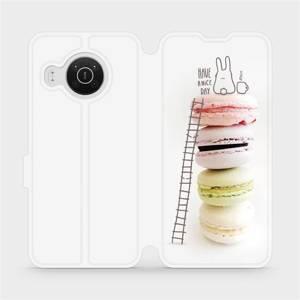Flip pouzdro Mobiwear na mobil Nokia X20 - M090P Makronky - have a nice day